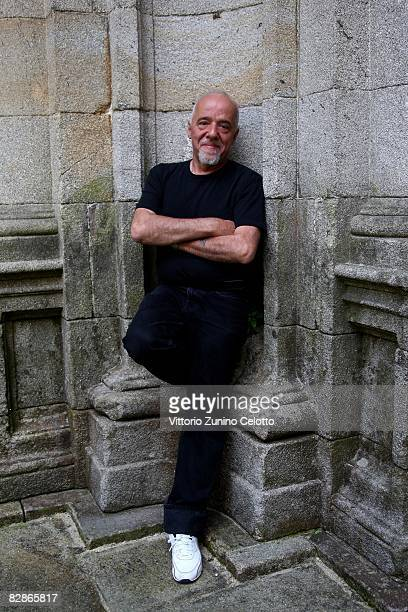 Author Paulo Coelho poses for a portrait session on June 25 2008 in Santiago De Compostela Spain