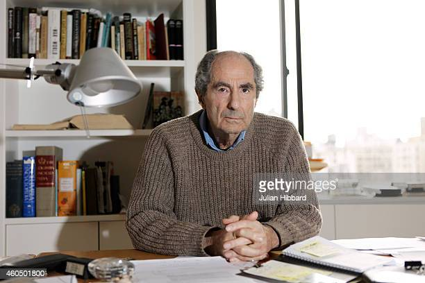 Writer Philip Roth in Black Sweater