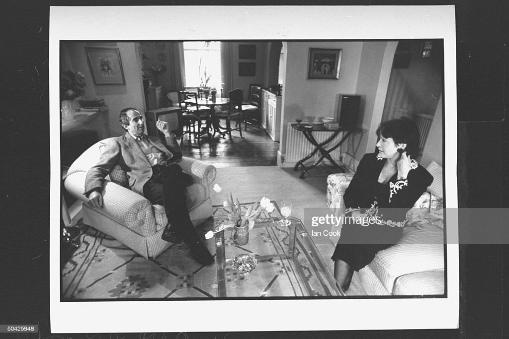 Claire Bloom;Philip Roth [& Wife #2] : News Photo