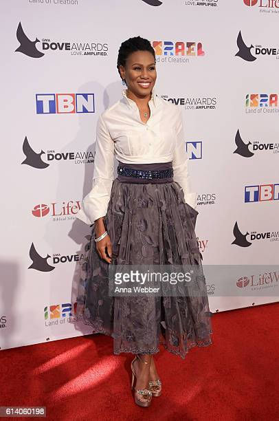 Author Priscilla Shirer arrives at the 2016 Dove Awards at Allen Arena Lipscomb University on October 11 2016 in Nashville Tennessee