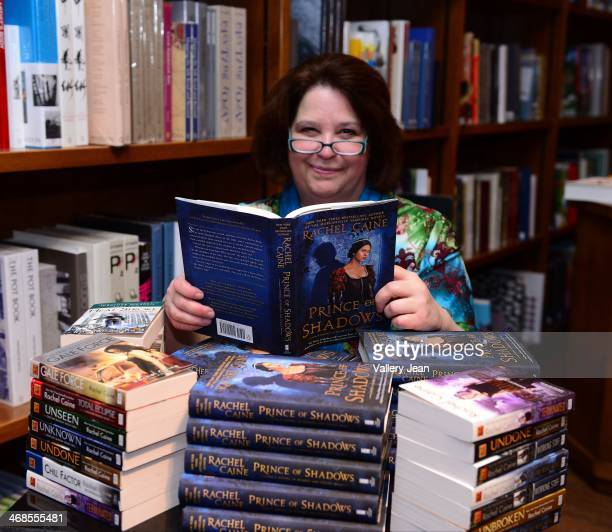Author Rachel Caine signs copies of her new books 'Prince of Shadows A Novel of Romeo and Juliet' at Books and Books on February 10 2014 in Coral...
