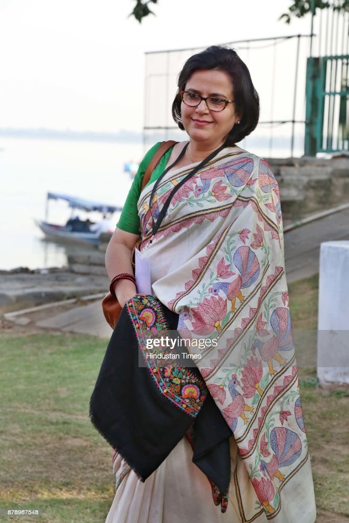 Author Rakshanda Jalil at Chandigarh Literature Festival 2017 at Lake Club on November 25 2017 in Chandigarh India