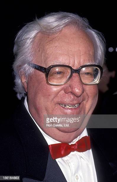 Author Ray Bradbury attends 50th Anniversary Party for Charlton Heston and Lydia Heston on March 18 1994 at the Hotel Nikko in Beverly Hills...