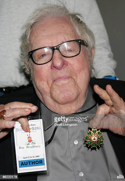 Author Ray Bradbury attends the 14th annual Los Angeles Times Festival of Books at UCLA on April 25 2009 in Los Angeles California