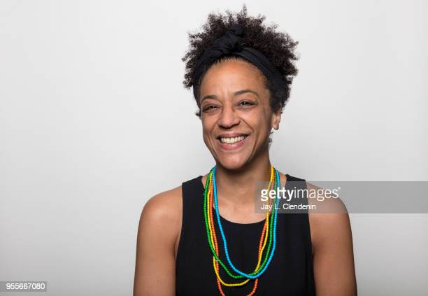 Author Rebecca Carroll is photographed for Los Angeles Times on April 21 2018 in the LA Times Studio at the Los Angeles Times Festival of Books at...