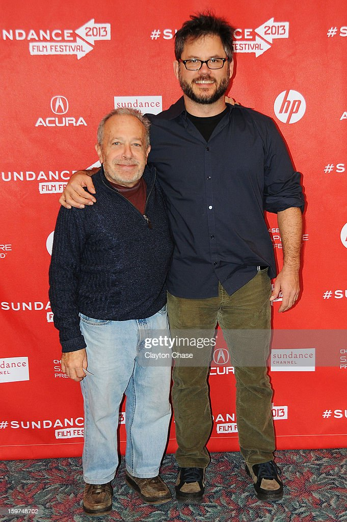 Author Robert Reich and director Jacob Kornbluth attend the 'Inequality For All' premiere at Prospector Square during the 2013 Sundance Film Festival on January 19, 2013 in Park City, Utah.