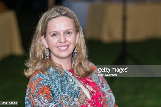 Author Robyn Lea attends Hamptons Magazine's Private Dinner Celebrating East Hampton Library Authors Nighton August 12 2017 in East Hampton New York