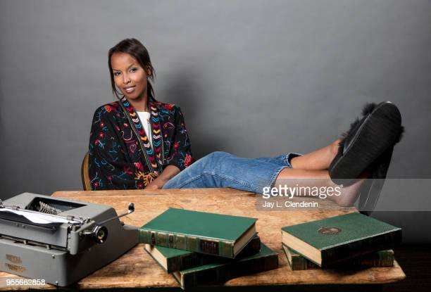 Author Roda Ahmed is photographed for Los Angeles Times on April 21 2018 in the LA Times Studio at the Los Angeles Times Festival of Books at the...