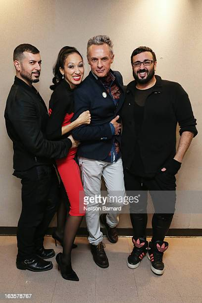 Author Roger Padilha model Pat Cleveland art director Corey Tippen and author Mauricio Padilha promote Antonio Lopez Fashion Art Sex Disco with a...