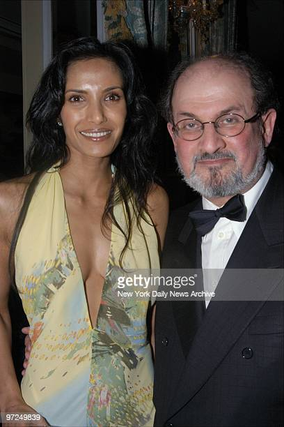 Author Salman Rushdie and his friend Indian model Padma Lakshmi are present at the 2003 PEN Literary Gala at the Pierre Hotel