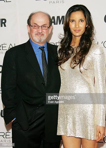 Author Salman Rushdie and wife Padma Lakshmi attend Glamour Magazine's Glamour Women Of The Year Awards 2006 at Carnegie Hall October 30 2006 in New...