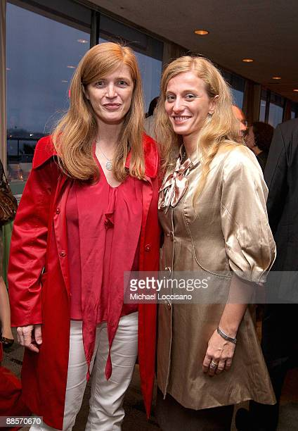 Author Samantha Power and Film Subject Carolina Larriera attend the HBO documentary screening of Sergio at United Nations on June 18 2009 in New York...