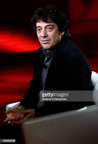 Author Sandro Veronesi attends Che Tempo Che Fa Italian TV Show on October 24 2010 in Milan Italy