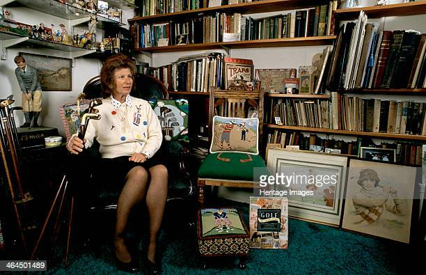 Author Sarah Fabian Baddiel at home with some of her golfing collection She is probably Britain's leading authority on golfiana and golf memorabilia...