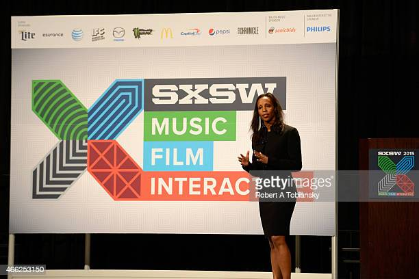 Author Sarah Lewis speaks onstage at 'The Story Of Creative Icons Failure To Mastery' during the 2015 SXSW Music Film Interactive Festival at Austin...