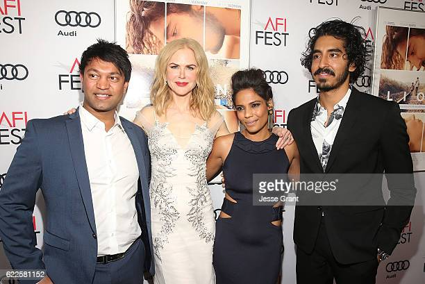 Author Saroo Brierley actors Nicole Kidman Priyanka Bose and Dev Patel attend the premiere of The Weinstein Company's 'Lion' at AFI Fest 2016 on...