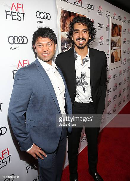 Author Saroo Brierley and actor Dev Patel attend the premiere of The Weinstein Company's 'Lion' at AFI Fest 2016 on November 11 2016 in Los Angeles...
