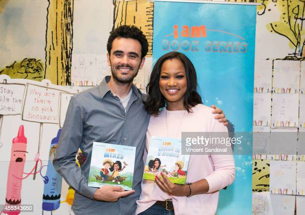 Author Sebastian Jones and actress Garcelle Beauvais sign and discuss their new children's book 'I Am Living In 2 homes' at Barnes Noble bookstore at...