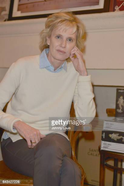 Author Siri Hustvedt poses for portrait after discussing and sign copies of her new book 'A Woman Looking at Men Looking at Women Essays on Art Sex...