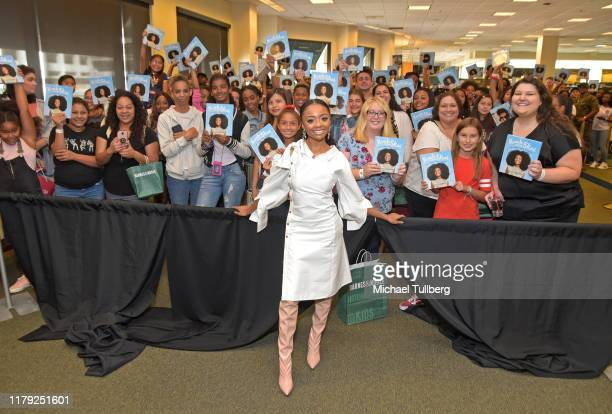 Author Skai Jackson attends a meet and greet in celebration of her book Reach for the Skai at Barnes Noble at The Grove on October 05 2019 in Los...