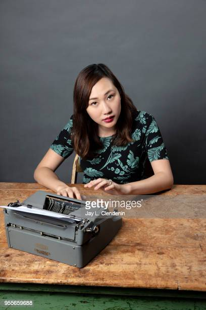 Author Steph Cha is photographed for Los Angeles Times on April 21 2018 in the LA Times Studio at the Los Angeles Times Festival of Books at the...