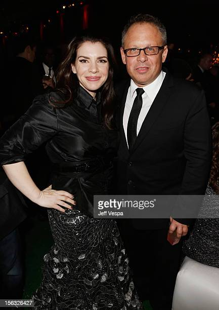 Author Stephanie Meyer and director Bill Condon attend The Twilight Saga Breaking Dawn Part 2 after party at Nokia Theatre LA Live on November 12...