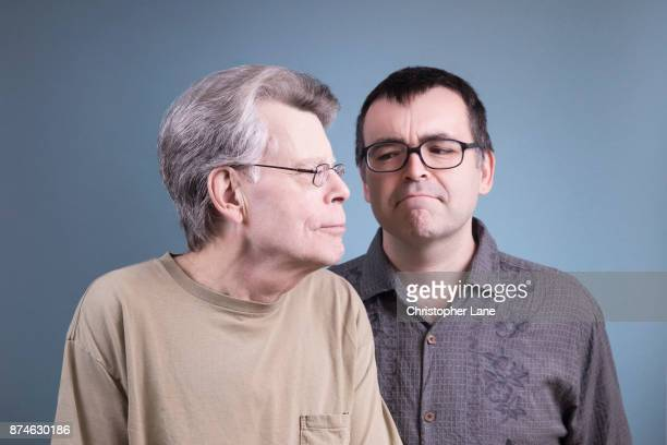 Author Stephen King and author/son Owen King are photographed for The London Times on September 24 2017 in New York City