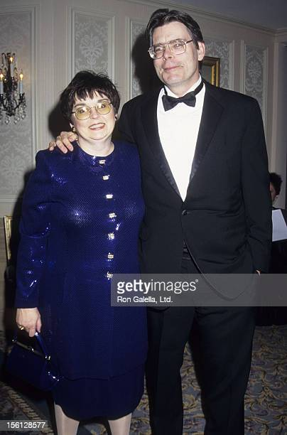 Author Stephen King and wife Tabitha King attend 17th Annual Salute to Women in Sports Awards on October 21 1996 at the Waldorf Astoria Hotel in New...