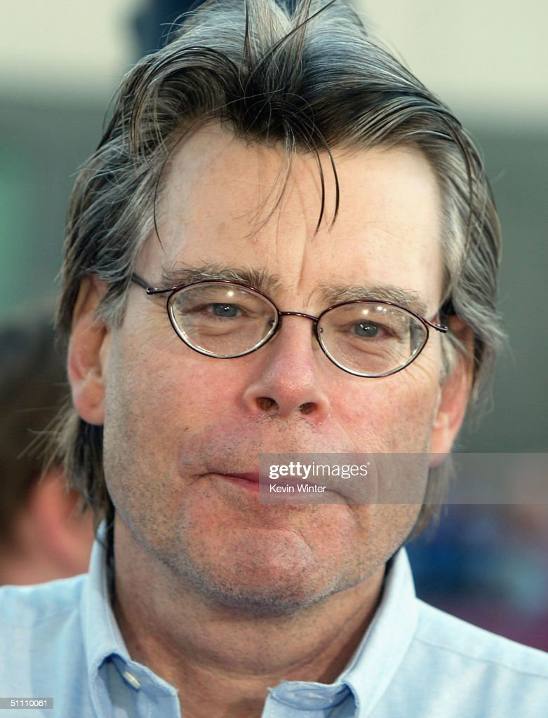 Author Stephen King arrives at the premiere of Paramounts' 'The Manchurian Candidate' at the Samual Goldwyn Theater on July 22, 2004 in Beverly Hills, California.
