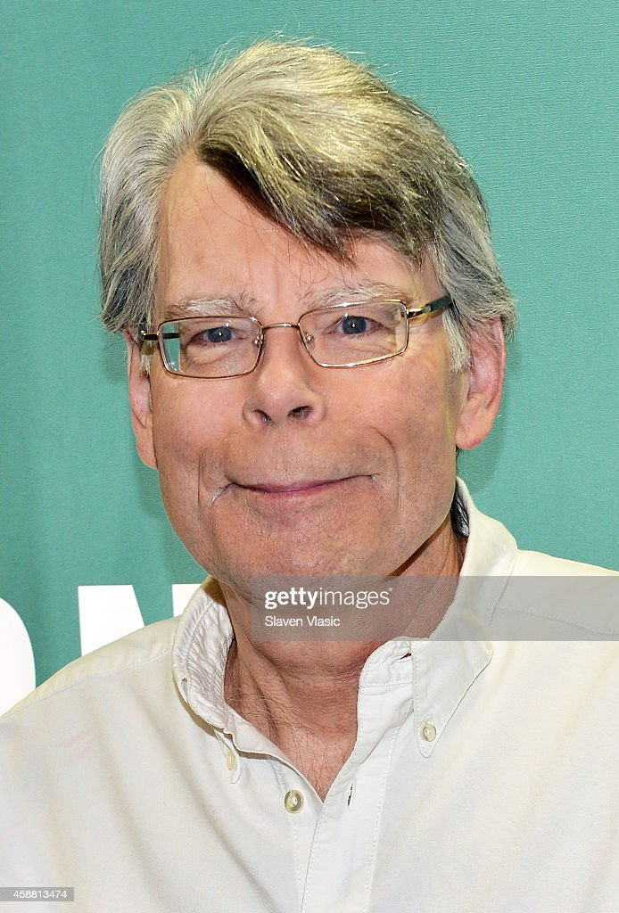 Author Stephen King signs the copies of his book 'Revival' at Barnes & Noble Union Square on November 11, 2014 in New York City.