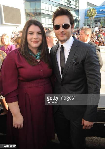 Author Stephenie Meyer and actor Peter Facinelli arrive at the premiere of Summit Entertainment's 'The Twilight Saga Eclipse' during the 2010 Los...