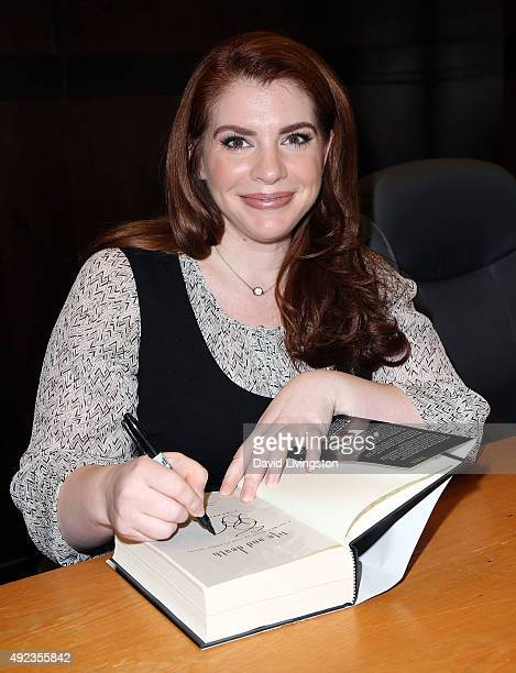 Author Stephenie Meyer attends a QA for the 10th anniversary of Twilight at Barnes Noble at The Grove on October 12 2015 in Los Angeles California