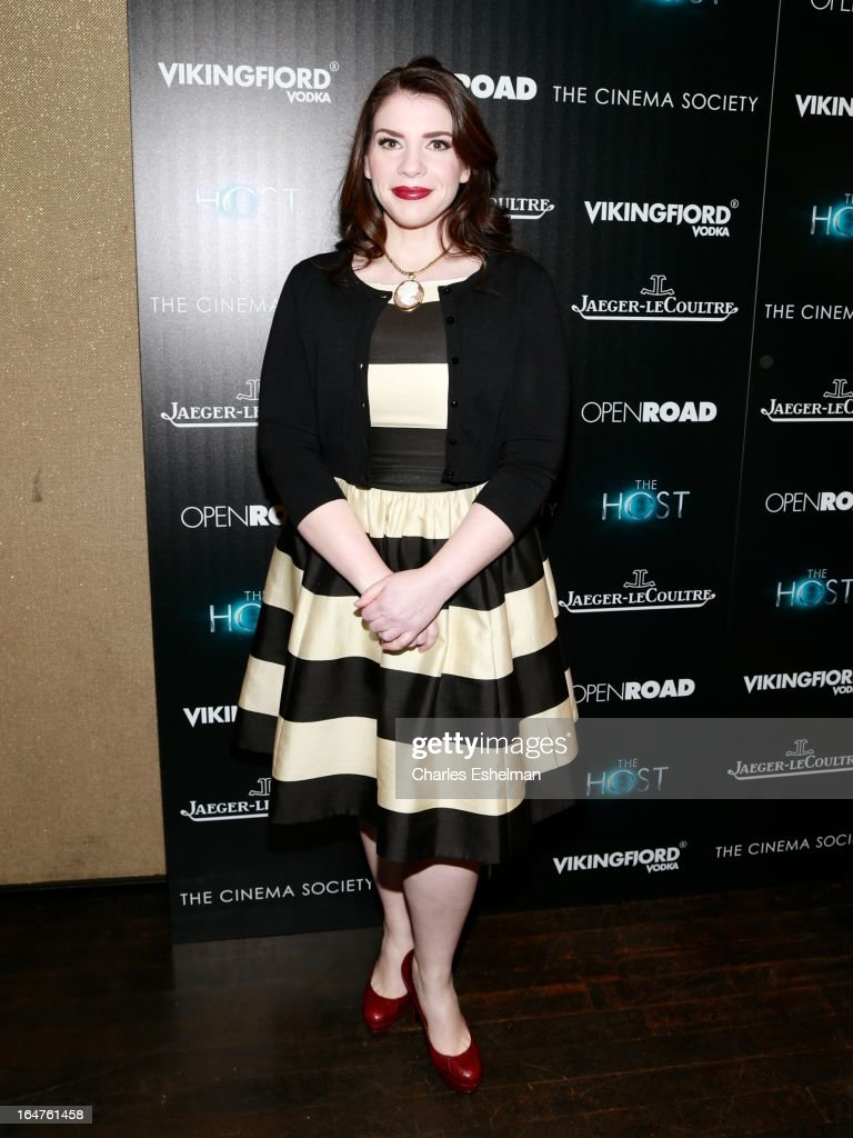 Author Stephenie Meyer attends The Cinema Society & Jaeger-LeCoultre Host A Screening Of Open Road Films' 'The Host' at the Tribeca Grand Hotel - Screening Room on March 27, 2013 in New York City.