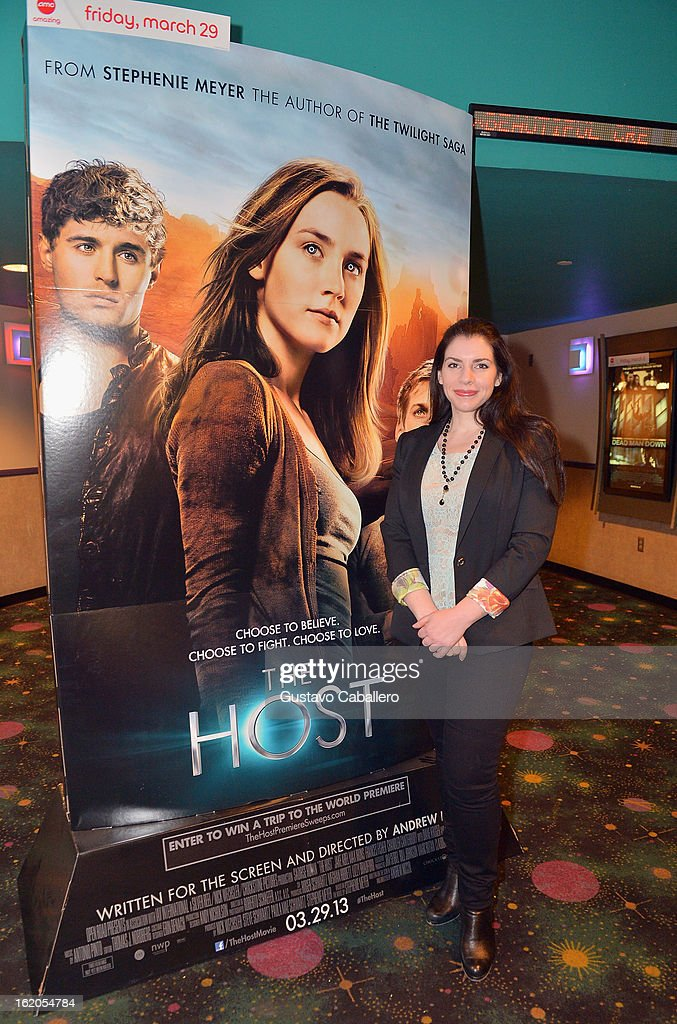 Author Stephenie Meyer attends 'The Host' Miami Q&A Screening with Jake Abel and Max Irons at AMC Sunset Place on February 18, 2013 in Miami, Florida.