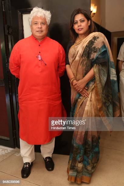 Author Suhel Seth during a lunch party on the occasion of Bengali New Year hosted by the designer Pranay Baidya at D85 Dron Marg Defence Colony on...