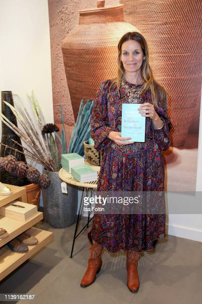 Author Susanne Kaloff during the GRAZIA x YARGICI store event on April 24, 2019 in Hamburg, Germany.