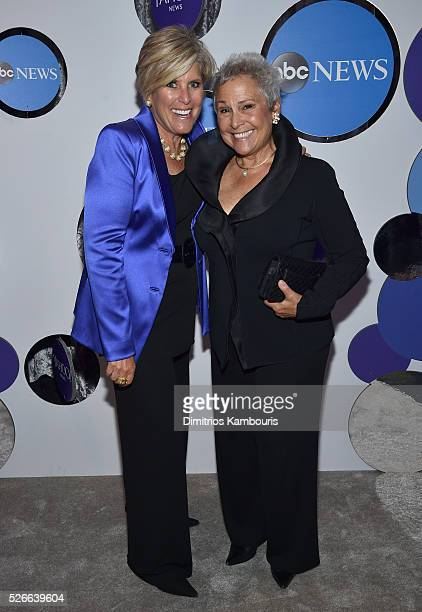 Author Suze Orman and Kathy Travis attend the Yahoo News/ABC News White House Correspondents' Dinner PreParty at Washington Hilton on April 30 2016...