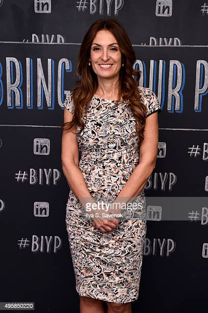 Author Suzy Welch attends LinkedIn Bring In Your Parents Day 2015 at the Empire State Building on November 5 2015 in New York City