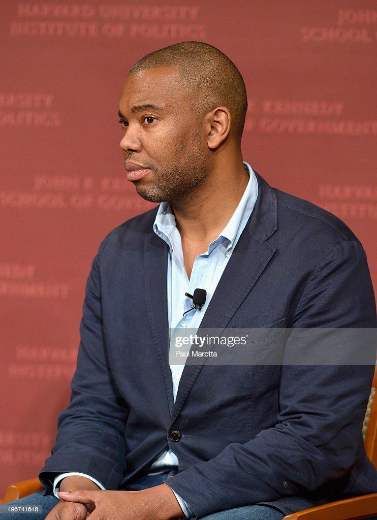 Author Ta-Nehisi Coates speaks at the Harvard University ...