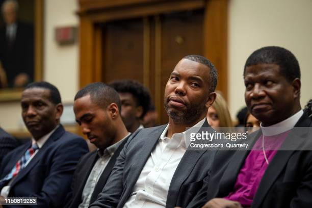 Author Ta-Nehisi Coates waits to testify about reparations for the descendants of slaves during a hearing before the House Judiciary Subcommittee on...