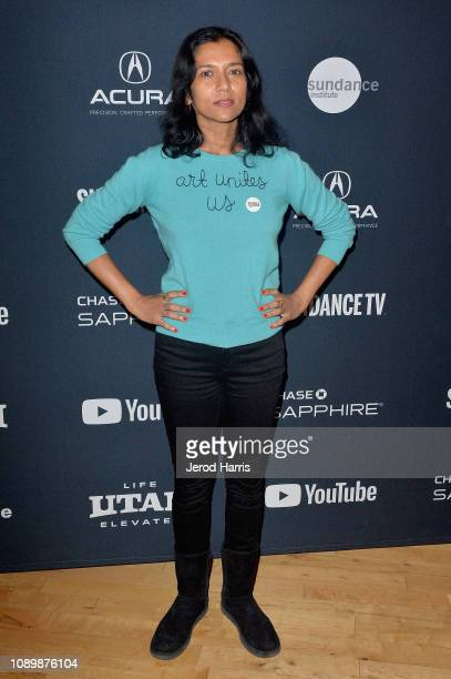 Author Tanya Selvaratnam attends the Can Art Save Democracy Panel during the 2019 Sundance Film Festival at Filmmaker Lodge on January 26 2019 in...