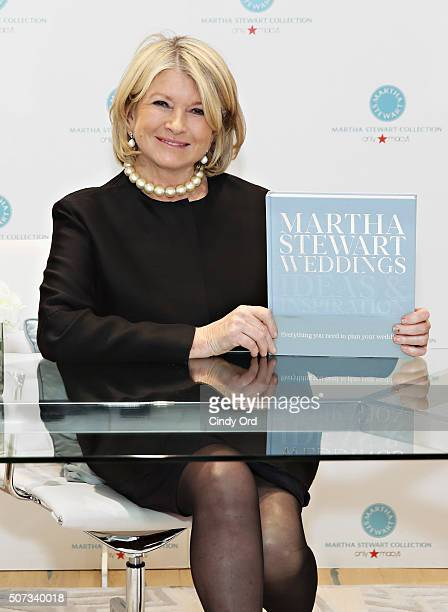 Author/ television personality Martha Stewart poses for a photo during the 'Martha Stewart Weddings Ideas And Inspiration' book launch at Macy's...