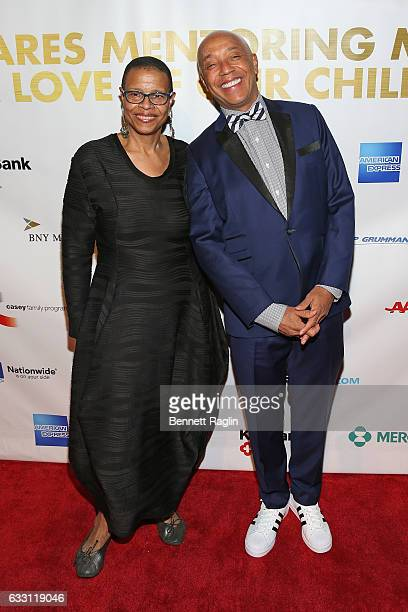 Author Terrie Williams and Russell Simmons attend the National CARES Mentoring Movement's 2nd Annual 'For the Love of Our Children' Gala at Cipriani...