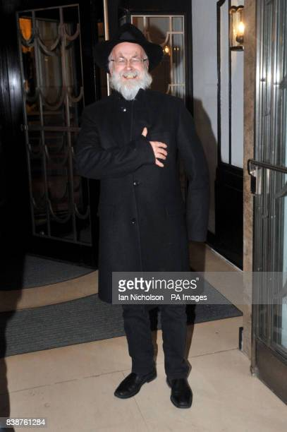 Author Terry Pratchett arrives for the Radio Times Covers Party at Claridges Hotel London