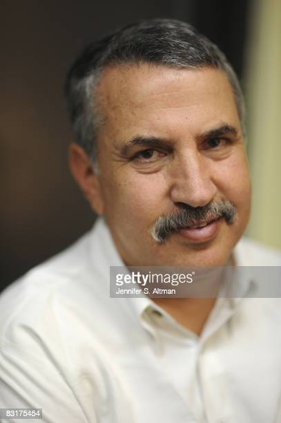 Author Thomas L Friedman is photographed at a reading and book signing at the 92nd Street Y in New York for the Los Angeles Times
