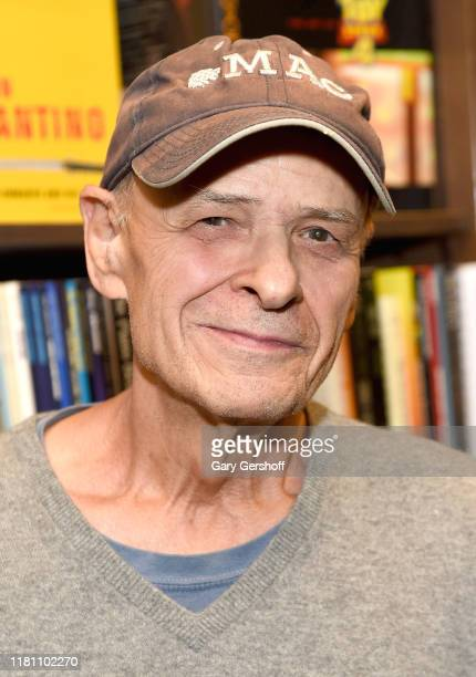 """Author Tim O'Brien poses before signing copies of his new book """"Dad's Maybe Book"""" at Barnes & Noble 82nd Street on October 14, 2019 in New York City."""