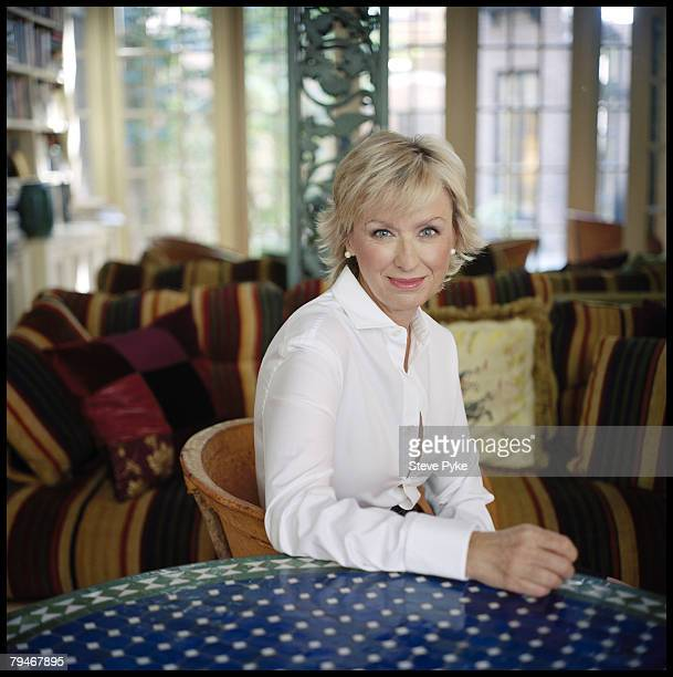Author Tina Brown poses at a portrait session in New York City