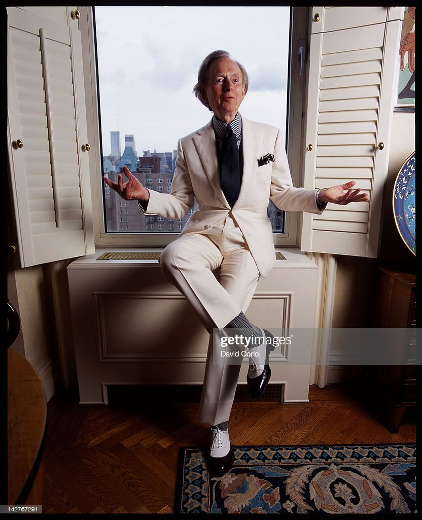 Author Tom Wolfe in his Upper East-Side apartment, New York City, 21st October 2004.