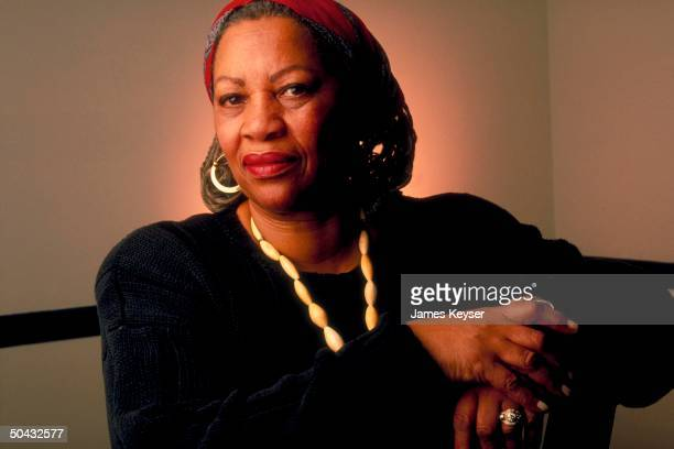 Author Toni Morrison at home.