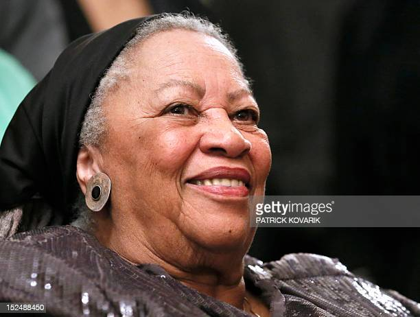 US author Toni Morrison attends on September 21 2012 a reception sponsored by the US ambassador at his residence in Paris as part of the 10th America...